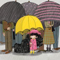 This is the portfolio website of illustrator MacKenzie Haley. Good Morning Rainy Day, Cozy Rainy Day, Rainy Day Photography, Umbrella Photography, Gifs, Rain Animation, Rain Gif, I Love Rain, Fantastic Art