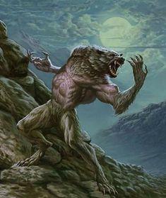 Varkolak by Jose Muñoz Weird Creatures, Fantasy Creatures, Mythical Creatures, Dark Fantasy, Fantasy Art, Caricatures, Werewolf Art, Beast Creature, Vampires And Werewolves
