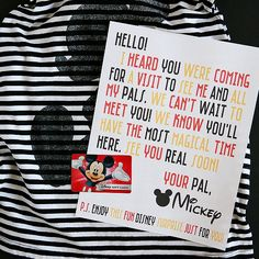 Surprise your kids with some Disney Magic - a (free printable) letter and surprise from Mickey himself. The kids LOVE this so much. If you like this surprise travel trip. Check others on my surprise vacation board :) Thanks for sharing! Disneyland Vacation, Disney World Vacation, Disney Vacations, Disneyland Secrets, Disney World Restaurants, Florida Vacation, Family Vacations, Dream Vacations, Family Travel