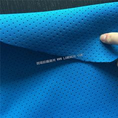 perforated neoprene fabric outside breathable with laminated two sides blue jersey fabric thickness 2mm-Sports and leisure fabric diving and water sports functional fabric lamereal textiles Ltd.,Huzhou