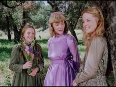 "Melissa Gilbert as Laura, Allison Balson as Nellie and Melissa Sue Anderson as Mary in the television series ""The Little House on the Prairie"" which was originally broadcast in the Melissa Sue Anderson, Melissa Gilbert, Laura Ingalls Wilder, Allison Balson, Ingalls Family, Paddy Kelly, Michael Landon, Classic Tv, Little Houses"
