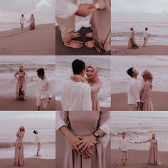Pre Wedding Poses, Pre Wedding Shoot Ideas, Pre Wedding Photoshoot, Korean Wedding Photography, Wedding Couple Poses Photography, Cute Muslim Couples, Foto Wedding, Mode Hijab, Couple Posing