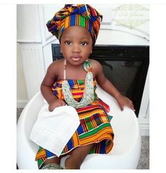 Kente & beads #African #print #toddler #style