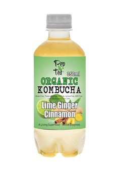 Pep-Tea-kombucha-Lime-Ginger-Cinnamon.jpg #PepTea bring u the best #Australianmade #organic #Kombucha ginger lime cinnamon. No refrigeration till opened. Very Low sediment