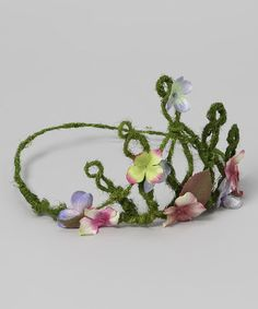 Take a look at this Green Flower Tiara by Enchanted Fairyware Couture on #zulily today!