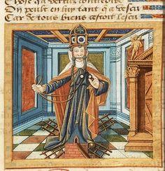 擬人化された「節制」 1512年頃 The Hague KB 76 E 13 f.8r
