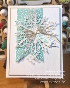 Snowflake Showcase Parade of Cards – Linda's Stampin' Escape Homemade Christmas Cards, Stampin Up Christmas, Handmade Christmas, Homemade Cards, Christmas Crafts, Christmas Tag, Simple Christmas, Christmas 2019, Christmas Ideas
