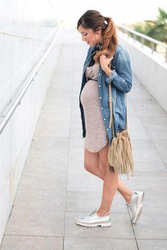 justcoco2010201604 Bandana, Denim Skirt, Skirts, Fashion, Pregnancy, Spring, Moda, Fashion Styles, Skirt
