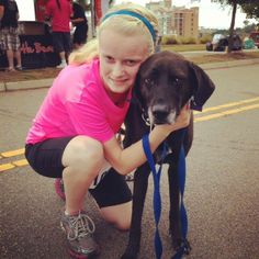 Janneke ran the Doggie Dash today, to raise $$ for the GrandStrand HumaneSociety, with Kola, adopted from GSHS on September 4, 2009. They were the first female finishers! So proud of my two girls.
