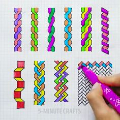 Colour markers hacks - You are in the right place about fun crafts Here we offer you the most beautiful pictures about th - 5 Min Crafts, 5 Minute Crafts Videos, Easy Diy Crafts, Crafts To Do, Diy Craft Projects, Craft Videos, Paper Crafts, Graph Paper Drawings, Graph Paper Art