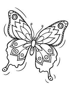 Printable Butterfly Coloring Page Free PDF Download At Coloringcafe