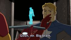 The Sass of Captain America - Avengers Assemble - Tony & Steve Rogers - Marvel Universe Marvel Avengers, Marvel Comics, Stony Avengers, Marvel Cartoons, Baby Avengers, Die Rächer, Steve And Tony, Chris Evans Captain America, Steve Rogers