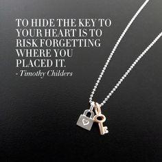 A little reminder to keep an open heart. #MondayMotivation #putaminionit #alexwoo #madeinny #lockandkey #lock #key http://www.alexwoo.com/minis/mini-addition-shapes/mini-addition-lock-in-sterling-silver.html