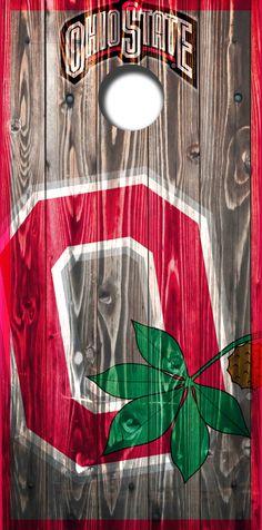 Ohio State Cornhole set by IconsInWood on Etsy