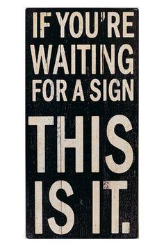 """Block Sign - """"Waiting"""""""