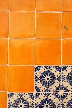 Colors in downtown Playa del Carmen, Quintana Roo, Mexico Talavera tiles at http://lafuente.com
