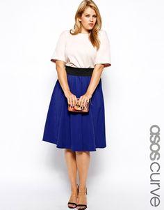574a4557bc1 ASOS CURVE Exclusive Circular Skirt In Texture at asos.com