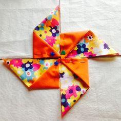 Origami Pinwheel mug rugs: A tutorial