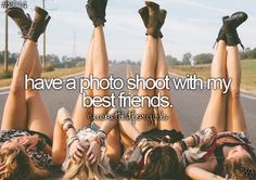 Photo Shoot Get-Together - Gather up some friends and a really good photographer. Do a photo shoot in some of the coolest places you can think of! On the bucket list Bucket List For Girls, Best Friend Bucket List, Bucket List Before I Die, Bucket List Life, Best Friend Goals, Best Friends, Friends Girls, True Friends, Living At Home