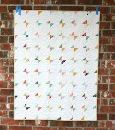 Baby Butterflies - a modern gender neutral baby quilt
