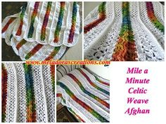 Free crochet pattern: Mile a Minute Celtic Weave Afghan by Meladora's Creations with photo and video tutorials