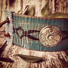 LEATHER BRACELET // Leather Cuff // Boho Gypsy Junk by dgierat, $52.00