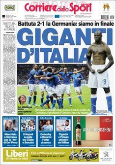 Prensa deportiva del 29 de junio 2012 – Semifinales de la Eurocopa: Italia finalista | discutivo.com - italy vs germany