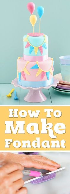 How to make fondant icing and cake decorating tips. Enjoy an easy homemade rolled fondant recipe and inspiring cakes to bake for your next party. #fondant #cake