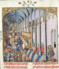 Consecration of the Bishop from the Pontifical of Bishop Erasmus Ciolek, c.1510 (tempera & gold on parchment) by Polish School Lithuania, Poland, Tempera, Artist Canvas, Fine Art Prints, This Is Us, Crown, School, Painting