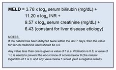 MELD Score Calculation (Model for End-Stage Liver Disease)