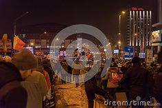 Photo about Sibiu, Romania. 25000 Romanians demonstrated against government decree decriminalizing some corruption offences. Image of angry, manifestation, crowd - 85650572 Image Photography, Editorial Photography, Sibiu Romania, Fair Grounds, Messages, Reportage Photography