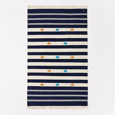 Steven Alan Geometric Stripe Cotton Kilim Rug