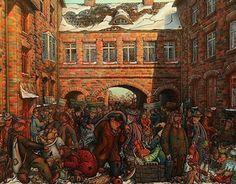 """Dobrobyt"",""Prosperity"" oil painting on glass"