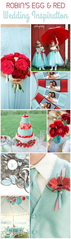 Wedding Color Combination Inspiration: Robin's Egg Blue and Red Wedding Ideas