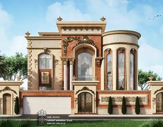 come and design your villa or building or hotel or interior decor or exterior design with us we have fantastic architectural designs and plans and we will make your dream We are professional in our work and our prices are very competitive Classic House Exterior, Modern Exterior House Designs, Dream House Exterior, Minimal House Design, Classic House Design, House Design Pictures, Architectural House Plans, Neoclassical Architecture, Fantasy House