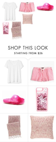 """""""Goodnight 😴💤🌙😘"""" by brielleespinal ❤ liked on Polyvore featuring Gap, J.Crew, ban.do and Pine Cone Hill"""