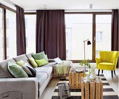 Jurnal de design interior - Amenajări interioare : Accente verzi într-un apartament din Polonia