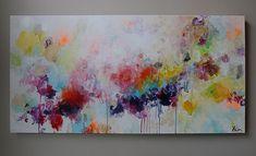 pintura de acrílico arte abstracto pintura abstracta por artbyoak1