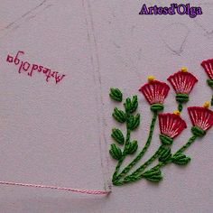 hand embroidery patterns for tablecloth Diy Embroidery Patterns, Basic Embroidery Stitches, Hand Embroidery Videos, Embroidery Stitches Tutorial, Embroidery Flowers Pattern, Hand Work Embroidery, Flower Embroidery Designs, Creative Embroidery, Simple Embroidery