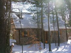 The family likes to head up to the cabin in the winter and stoke up the woodstove and live off of the grid as long as they choose.