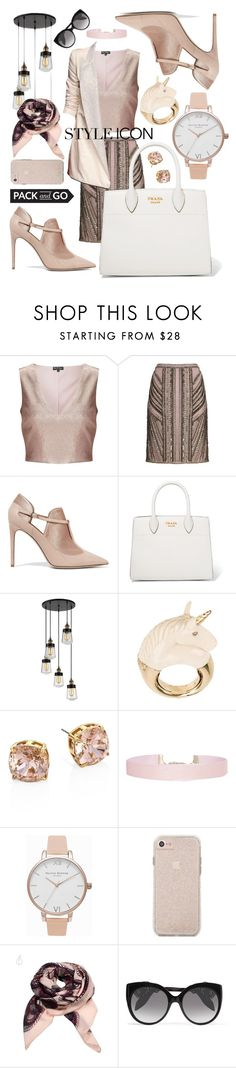"""Style Icon"" by amanda-noel-fischer ❤ liked on Polyvore featuring Miss Selfridge, Phase Eight, Valentino, Prada, Savoy House, BIBI VAN DER VELDEN, Tory Burch, Humble Chic, Olivia Burton and Alexander McQueen"