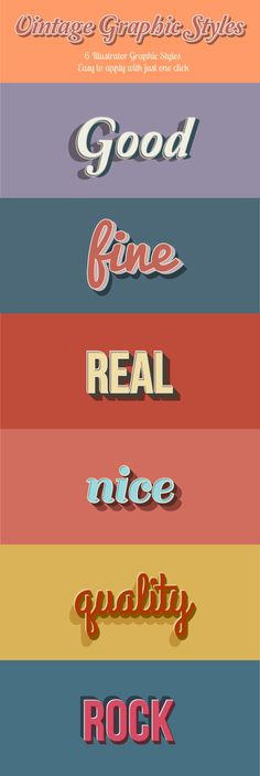 Vintage Graphic Styles for Adobe Illustrator #design #ai Download: http://graphicriver.net/item/vintage-graphic-styles/8586146?ref=ksioks