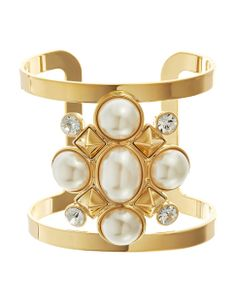 Cabachon Cluster Open Cuff by Juicy Couture, $97 | #HudsonsBayHoliday