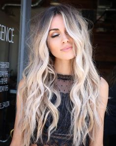 Dark Brown Hair with Cinnamon Balayage - 20 Must-Try Subtle Balayage Hairstyles - The Trending Hairstyle Brown Ombre Hair, Ombre Hair Color, Cool Hair Color, Balayage Hair Blonde, Blonde Brunette, Haircolor, Platinum Blonde Hair, Hair Highlights, Platinum Highlights