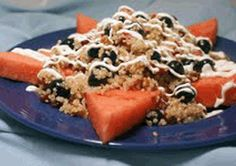 Red, White and Blueberry #Quinoa Salad