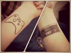 I got these wrist tattoos at Ancient Ink in Crown Point Indiana. My friend Jake did both of them. Video games have shaped my entire life and are becoming my future.