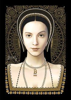 Inspired illustration of Anne Boleyn by ~trickd on deviantART.