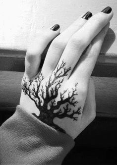 Hand Tattoos for Women - Cool and Unique Oak Tree Tat Ideas - MyBodiArt.com