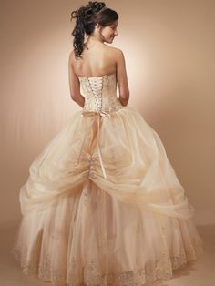 2012 Style Ball Gown Strapless Embroidery  Sleeveless Floor-length Tulle  Prom Dresses / Evening Dresses