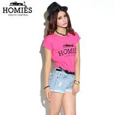 Hot Pink Homies Tee With Black Ink - FixShippingFee- - TopBuy.com.au